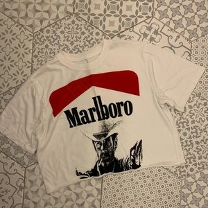 Marlboro Cropped graphic tee